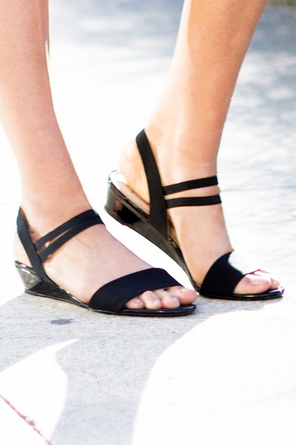 Step This Way Wedge Sandal - Black