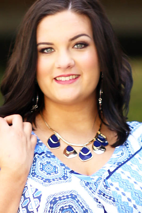 Plated Metal Pendant Statement Necklace - Gold/Navy