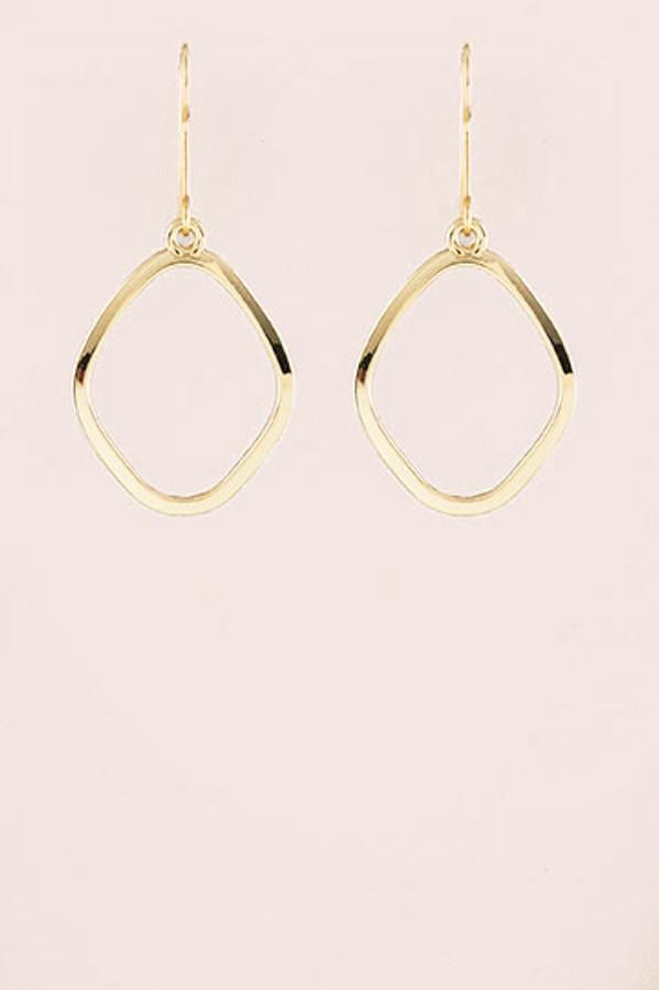 Geometric Drop Earrings - Gold