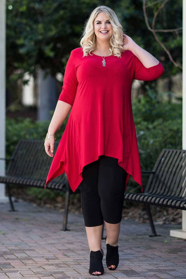 Your Best Foot Forward Tunic - Red