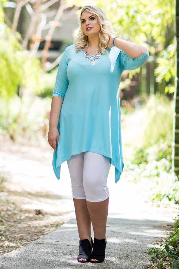 Your Best Foot Forward Tunic - Aqua
