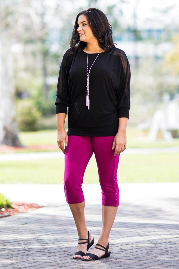 Steppin' Out of the House Cute Blouse - Black