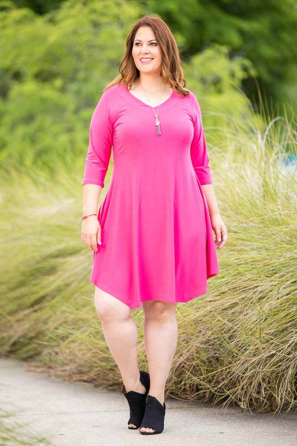 Out For the Night Party Dress - Light Fuchsia