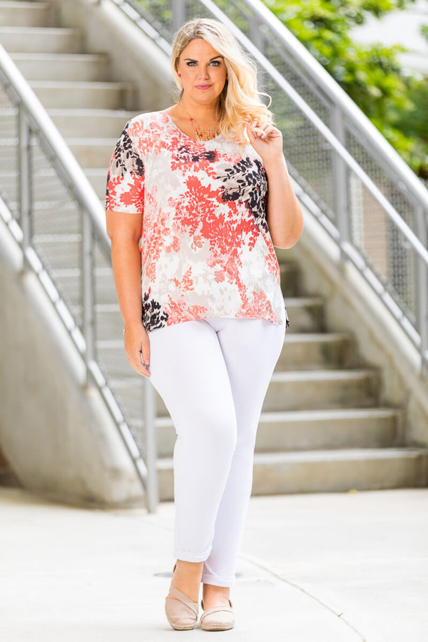 Basic But Never Boring Short Sleeve Shirt - Pressed Flowers Print