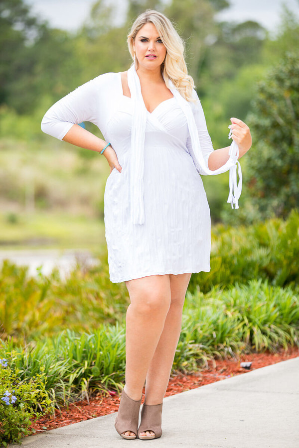 Going Your Way Tunic with Scarf - White
