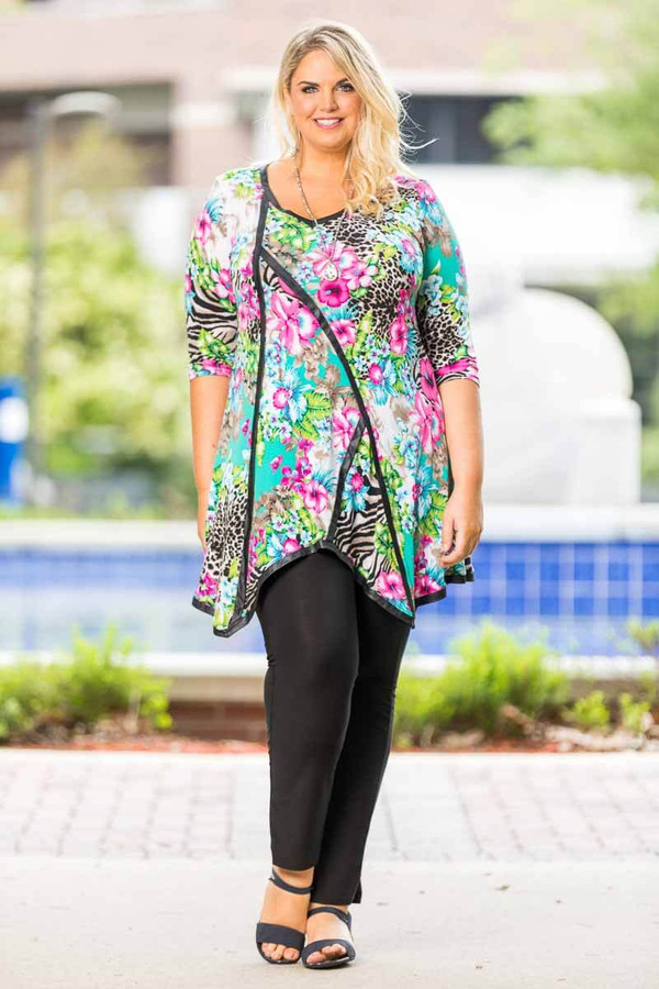 Day into Evening Tunic - Hawaiian Dream