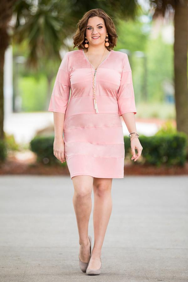 Live Life Beautifully Dress - Rosa