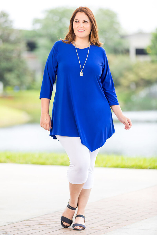 Say it Out Loud Tunic - Cobalt