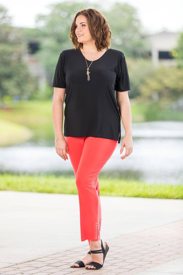 All Buttoned Up Legging - Coral