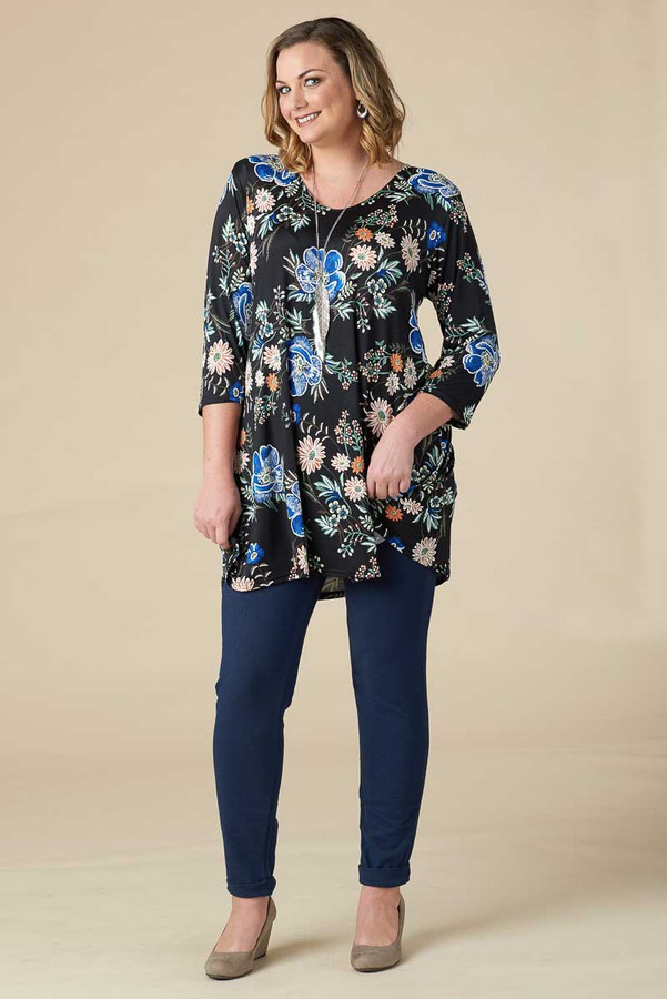 Beautifully Simple Tunic - Blue Night Garden