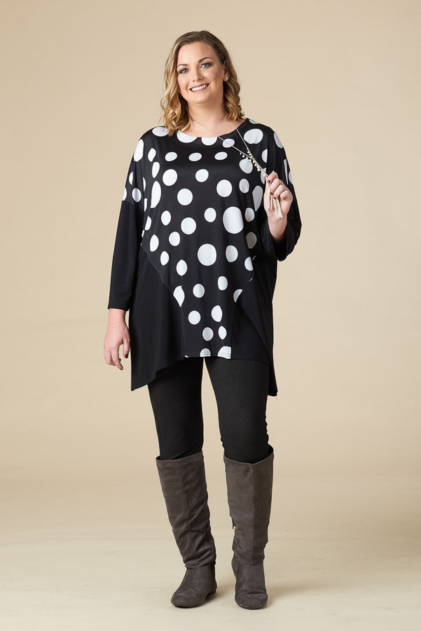 EASY BREEZY DROP SHOULDER TUNIC - POLKA PARTY