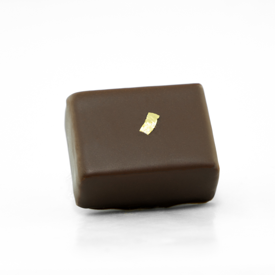 Belgian dark chocolate ganache with sake and vanilla