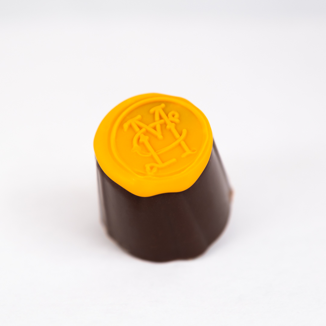 Milk and dark Belgian chocolate with house candied orange