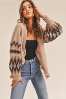 Lush Taupe Combo Sweater