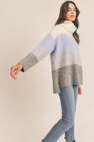 Lush Lilac Grey Sweater