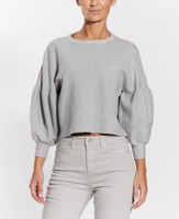 OAT Cropped Ballon Sleeved Sweater