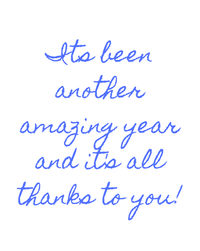 Thank You For Another Amazing Year!