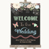 Shabby Chic Chalk Welcome To Our Wedding Personalised Wedding Sign