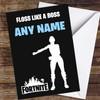 Fortnite Dance Floss Like A Boss Personalised Children's Birthday Card