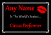 Circus Performer Personalised World's Sexiest Certificate