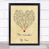 Elvis Presley The Wonder Of You Vintage Heart Song Lyric Quote Print