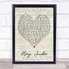Hey Jude The Beatles Script Heart Quote Song Lyric Print