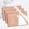 Peach Bride Personalised Wedding Gift Cash Request Money Poem Cards