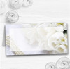White Rose And Romantic Lace Wedding Table Seating Name Place Cards