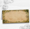 White Rose Vintage Shabby Chic Postcard Wedding Table Seating Name Place Cards