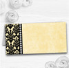 Yellow Black Damask & Diamond Wedding Table Seating Name Place Cards
