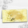 Yellow Cream Lace Wedding Table Seating Name Place Cards