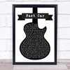 Tracy Chapman Fast Car Black & White Guitar Song Lyric Print