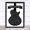 Twenty One Pilots Heavy Dirty Soul Black & White Guitar Song Lyric Print