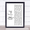 Beyonce At Last White Script Song Lyric Print