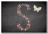Chalk Letter Initial S  Personalised Magnet