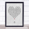 Coldplay O Grey Heart Song Lyric Quote Music Print