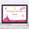 Tooth Fairy Excellent Care Pink Personalised Certificate Award Print