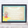 Vintage Craft Blue Tooth Fairy Personalised Certificate Award Print