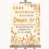 Autumn Leaves Toiletries Comfort Basket Personalised Wedding Sign