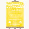 Yellow Watercolour Lights Grab A Bag Candy Buffet Cart Sweets Wedding Sign