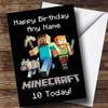 Personalised Minecraft Logo Children's Birthday Card