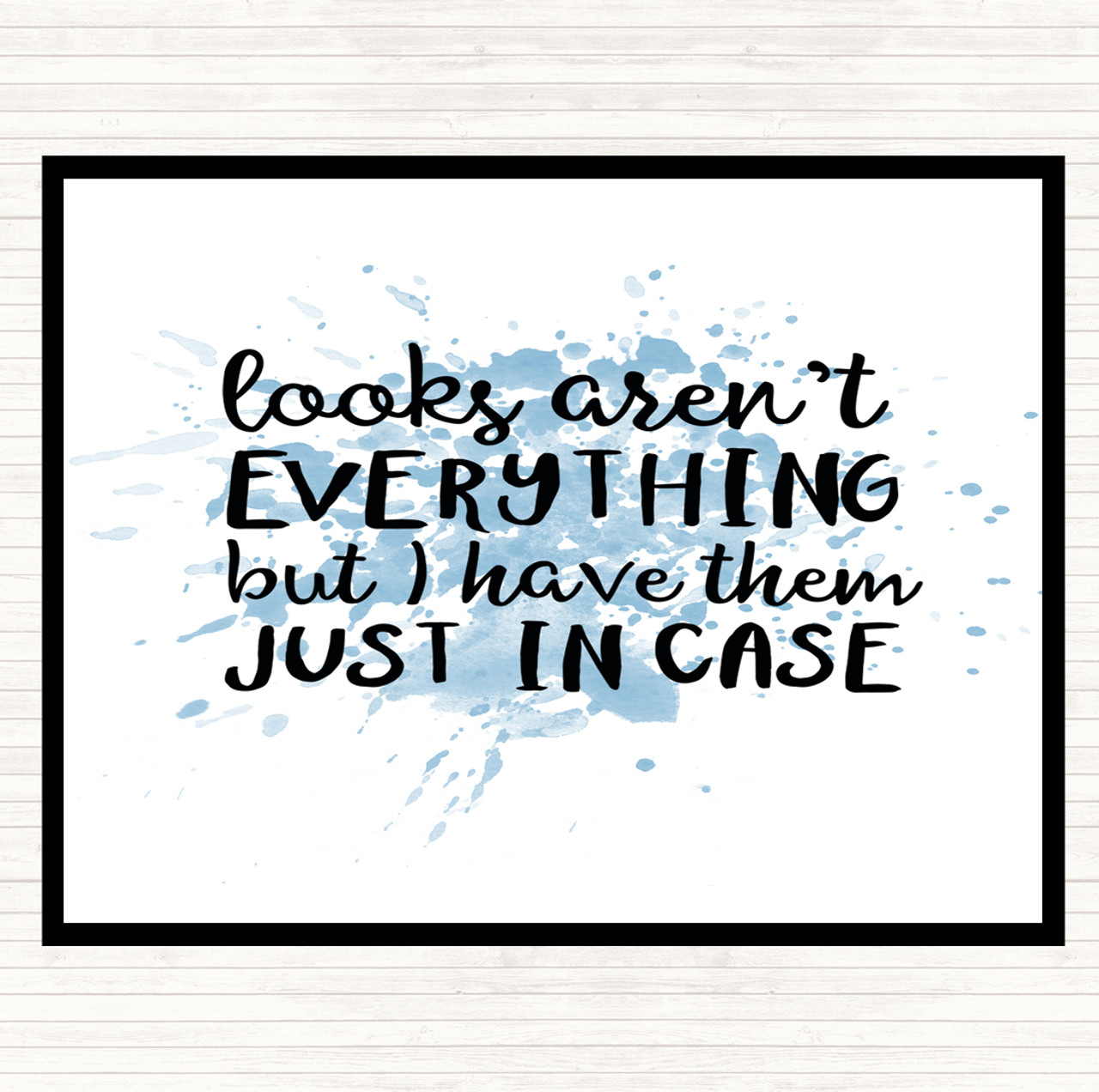 Blue White Looks Aren T Everything Inspirational Quote Mouse Mat Pad The Card Zoo