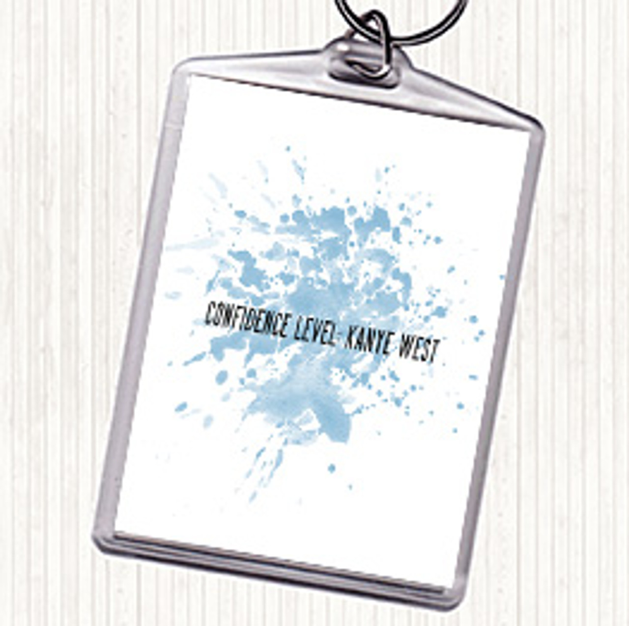 Confidence Level Kanye West Inspirational Quote Print Blue Watercolour Poster