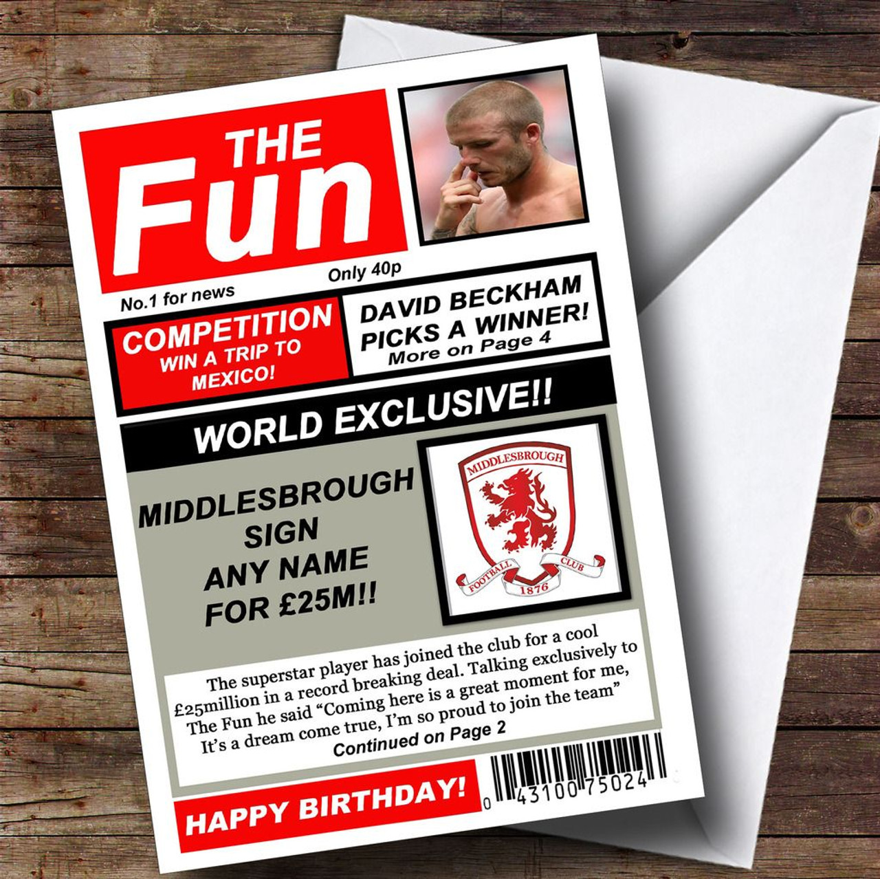Middle Finger Blue Insulting /& Offensive Funny Personalised Birthday Card