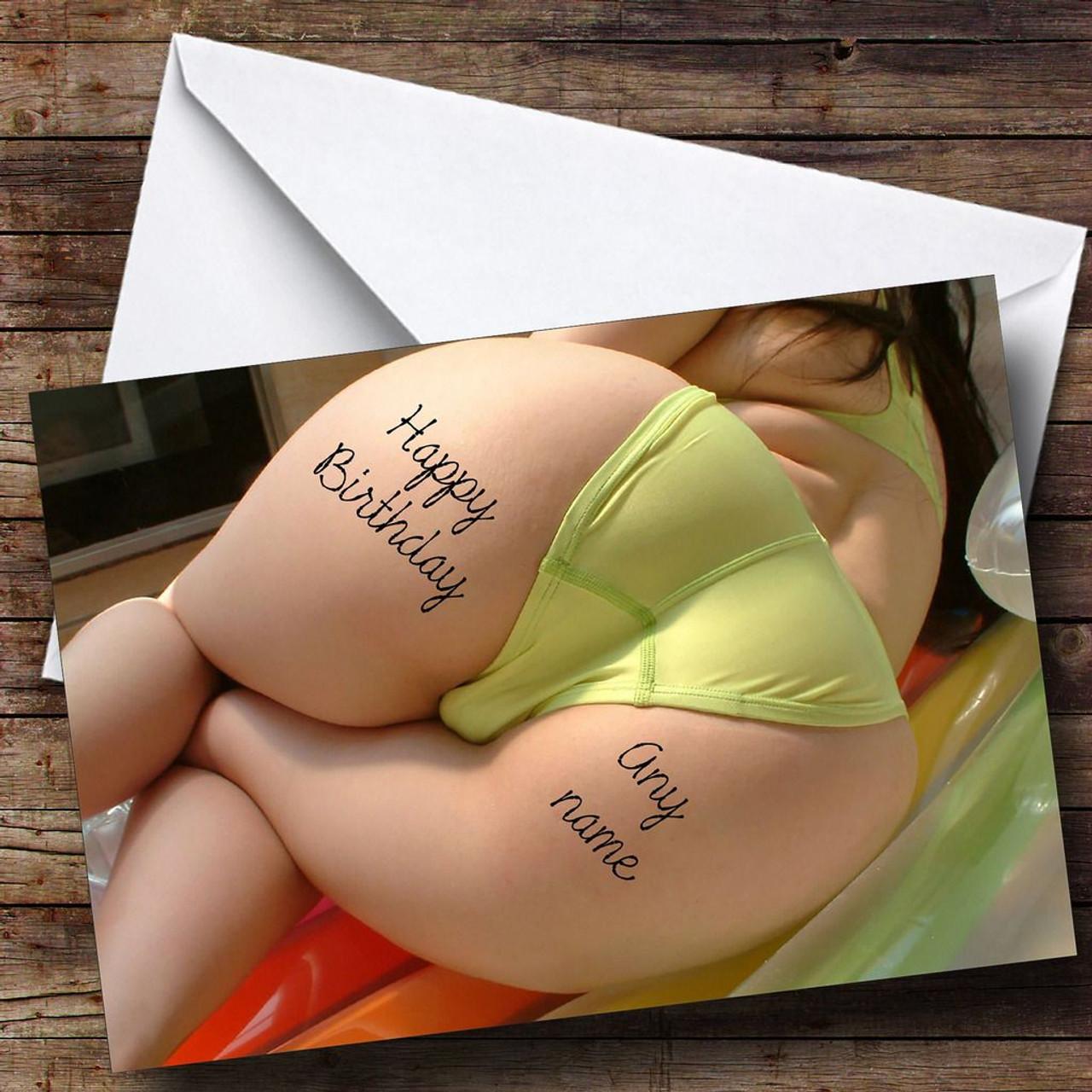 Big Boobs Personalised Birthday Greetings Card