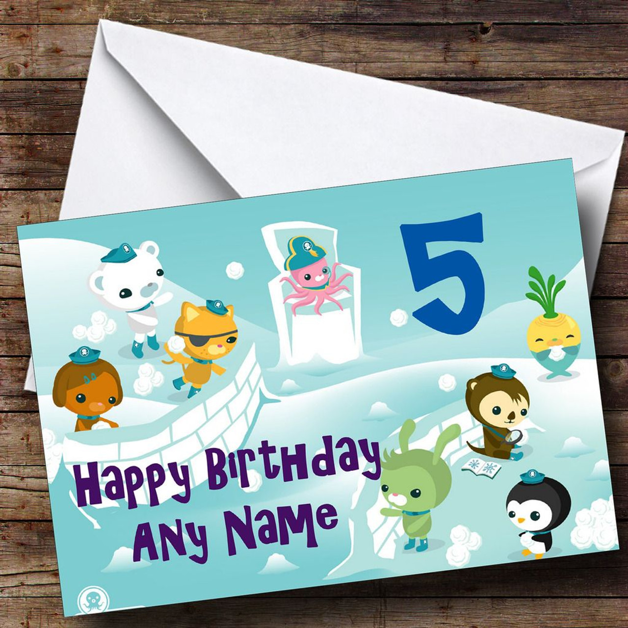 Cards Stationery Octonauts A5 Personalised Birthday Card Free Delivery 24hr Post Home Furniture Diy Yallatools Com