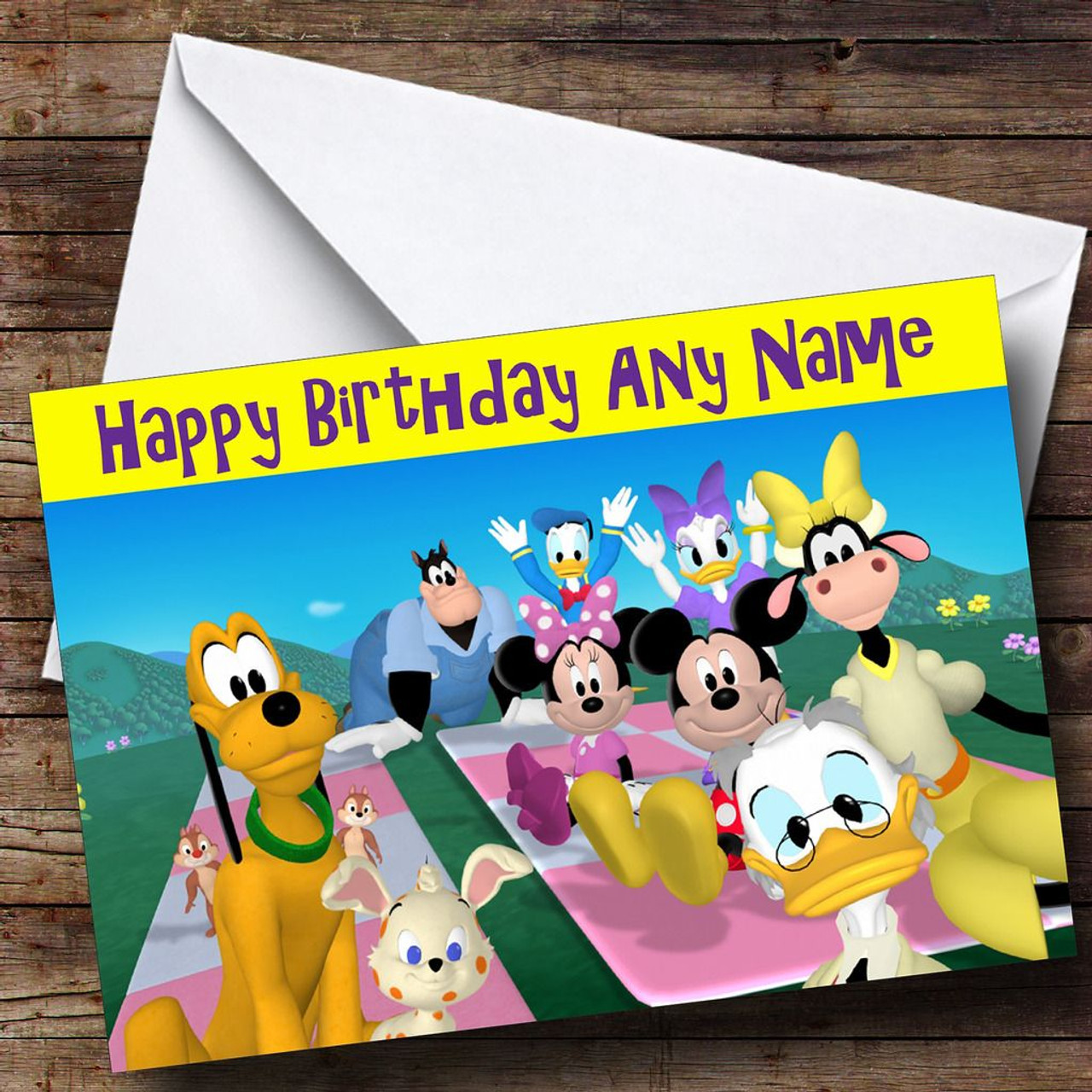 Mickey Mouse Clubhouse Personalised Birthday Card