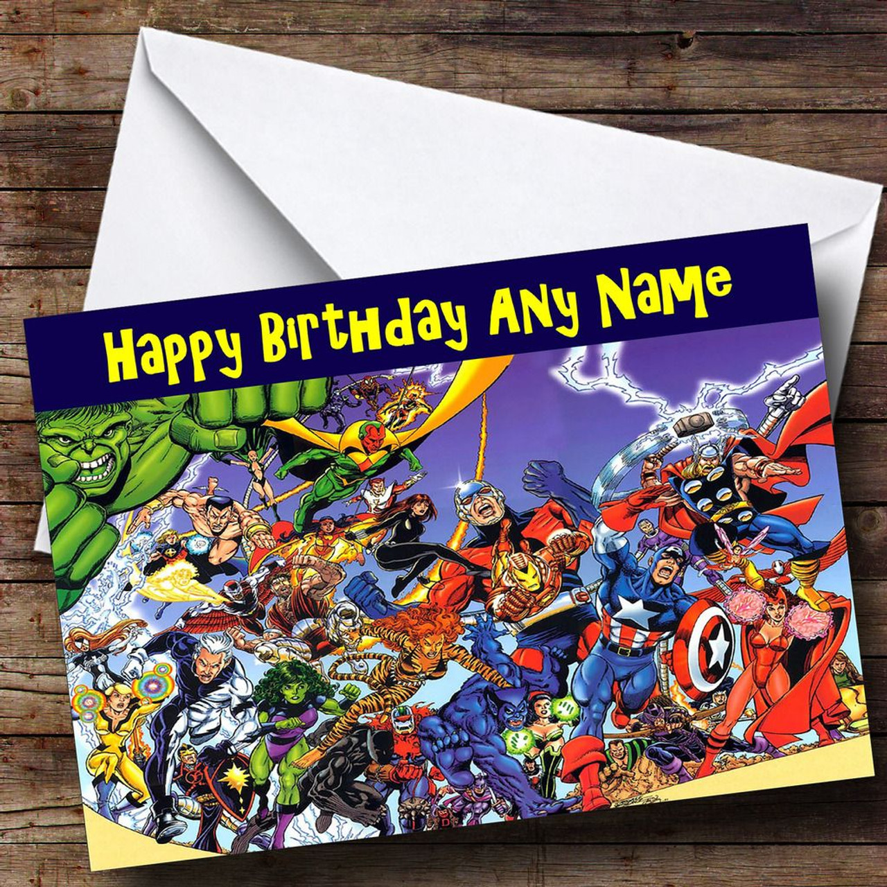 The Avengers Personalised Birthday Card - The Card Zoo