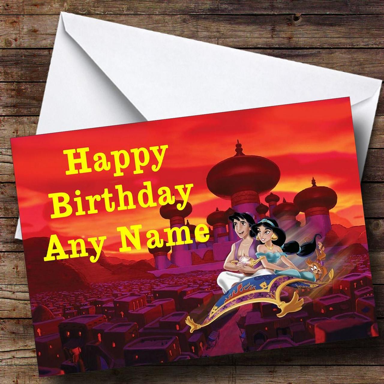 Aladdin Personalised Birthday Card The Card Zoo