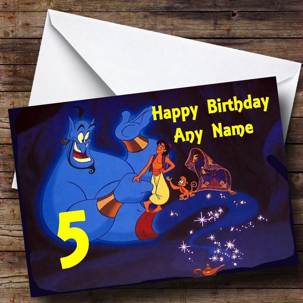Aladdin Genie Personalised Birthday Card The Card Zoo
